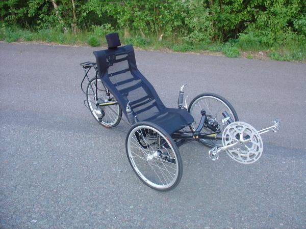 Kokoontaitettava kolmipyöräinen nojapyörä: TW-BENTS Mantis 1470 Eur